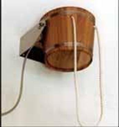 Kambala ağacından yapılmış 21 litre kapasiteli şok duş kovası.